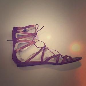 Via Spiga Camel Gladiator Sandals